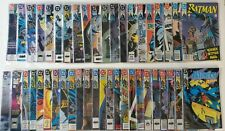 BATMAN lot - #445-486, Annuals #14 & #15 - 44 comics,1990-1992