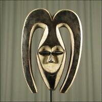62812) Afrikanische Kwele Holz Maske Gabun Afrika KUNST