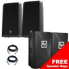"""Electro-Voice ZLX12P 12"""" 1000W Active Powered PA Speakers PAIR + FREE XLR Leads"""