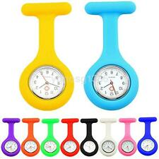 10 Colors Silicone Nurse Brooch Tunic Fob Watch Nursing Pendant Pocket Watches