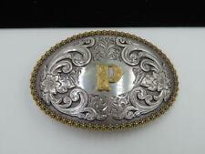 Miami 305 Belt Buckles made by Dirty Dade Gear Glossy Black with Silver Trim.