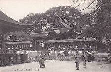Carte postale ancienne JAPON JAPAN KOBE un temple