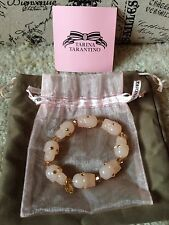 TARINA TARANTINO Pink Skulls With Swarovski Crystal Eyes Bracelet RARE Last One