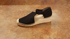 New! Tory Burch 'Catalina 3' Espadrille Wedge Pumps Black Womens 9 M MSRP $198