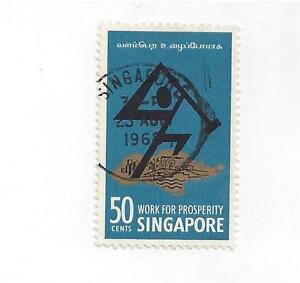 SINGAPORE  #85  USED - 1968 ISSUE