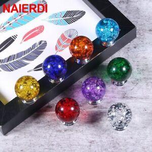 30mm Crystal Bubble Ball Wardrobe Handles Cabinet Knobs Drawer Pulls