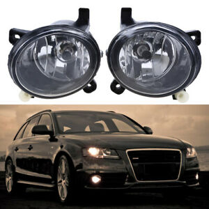 2Pcs For Audi A4 B8 2009 2010 2011 2012 Fog Light Fog Lamp Assembly With Bulbs