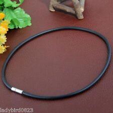 Halsreif Halsband Kette Halskette Gummi Silikon Clipverschluss schwarz Armband