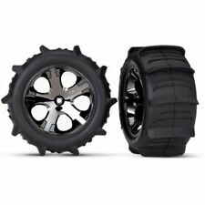 """Traxxas 3776 Tires And Wheels 2.8"""" Rear Paddle Tires (2)"""