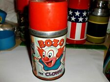 Bozo The Clown`1963`Capital Records,Aladdin Metal Lunch Box-Thermos-:>Free To US