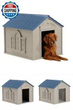 Large Dog House Pet Kennel Puppy Indoor Outdoor Shelter Weather Proof Cabin XXL