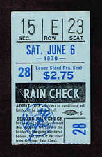 1970 Chicago White Sox vs New York Yankees TICKET STUB