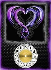 Purple Dragon Wall Clock  Makes Great Gifts