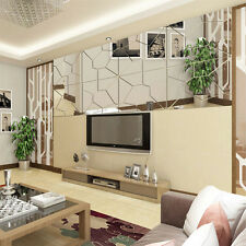 7Pcs Moire Pattern Mirror Removable Decal Art Mural Wall Sticker Home Decor Diy