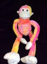 "Stone Mountain park Tug A Lug Tie Die Monkey Plush 22"" Soft Toy Stuffed Fiesta"