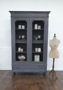 CHARMING  ANTIQUE FRENCH SOLID WALNUT ARMOIRE - C1900