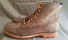 Men's Rustic Brown Leather FRYE 14677 Ankle Moc Toe Heritage Casual Boots Sz-10D