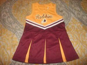 Washington Redskins NFL Toddler Girls Cheer Jumper Dress 12m 18m,2T, 3T, 4T (B32