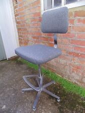 GREY ARCHITECT SWIVEL CHAIR TWEED *FREE DELIVERY RETRO OFFICE STOOL INDUSTRIAL