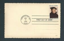 Us Stamps Fdc / Martin Luther #2065 / Vintage Foreign Postcard / 1983