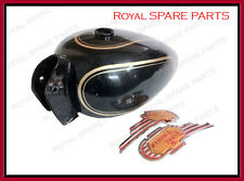 Royal Enfield Black Painted Petrol Fuel Gas Tank 14 Litre With Logo