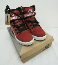 BNIB Odessa Footwear Red Trainers Red Burgundy Apollo Lace Up Size 5 - FIS S12