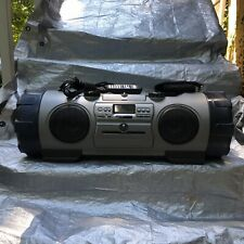 JVC Kaboom Boombox Stereo RV-B90GY & Remote CD Radio | Tested - Read Description