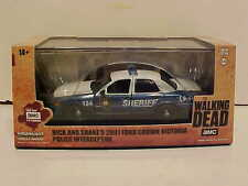 Walking Dead TV Show 2001 Ford Police Sheriff Diecast Car 1:43 Greenlight 5 inch