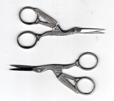 "Silver Coloured Stork Embroidery Scissors 3.5"" FREE P&P (UK"