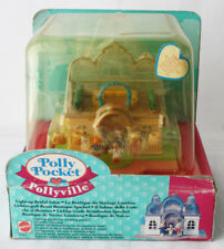 RARE VINTAGE 1995 POLLY POCKET LIGHT UP BRIDAL SALON PLAYSET NEW SEALED !