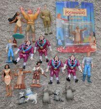 Disney Pocahontas  Meeko .Raccoon etc Disney toy lot cake decor 18 piece