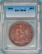 1841 EF-40 Seated Liberty Silver Dollar XF Extra Fine