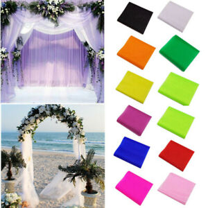 Sheer Crystal Organza Tulle Fabric Wedding Party Arches DIY Decoration 5M