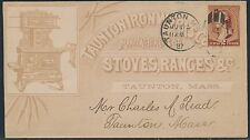 #210 ON TAUNTON IRON WORKS Co. ADVERTISING COVER BS6799