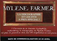 """MYLENE FARMER Plaquette promo - """" DISCOGRAPHIE """""""