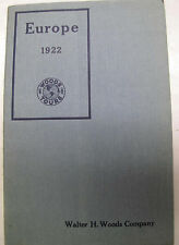 Walter Woods Co Tours Europe 1922 Catalog Itinerary Illustrated Travel Pricing