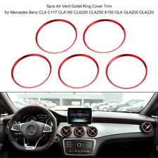 5Pcs Air Vent Outlet Ring Cover Trim Red For Mercedes Benz A/B/CLA/ GLA Class UK