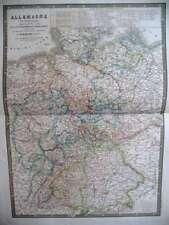 ALLEMAGNE CONFEDERATION GERMANIQUE CARTE GRAVURE 1844