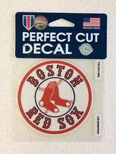 "Boston Red Sox 4"" x 4"" Logo Truck Car Auto Window Die Cut Decal New! Team Colors"