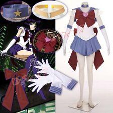 Cafiona Sailor Moon Tomoe Hotaru Sailor Saturn SuperS Cosplay Costume Sexy Dress