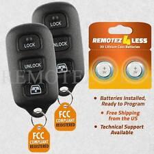 2 For 2004 2005 2006 2007 2008 2009 Toyota 4Runner Keyless Remote Car Key Fob