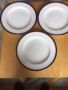 Spode Copeland China 3  Dinner Plates 26.5cm R3693 Retailed T Goode & Co London.