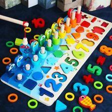 Kids Montessori Educational Wooden Toys For Children Busy Board Math Preschool