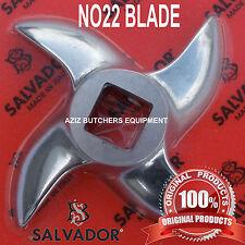 Salvador No 22 Stainless Steel Mincer Knife, Mincer Blade, Curved Edge