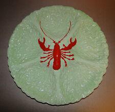 """Vintage CARLTON WARE Lobster Cabbage Leaf Divided Large Serving Dish 13"""" Diam"""