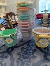 Lot Of 12 Easter Buckets, Planters , 5x5 Brand New , Old Store Stock
