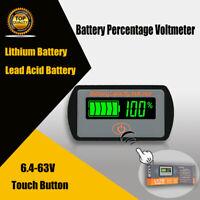 LCD Batterie Capacité Voltmètre Plomb,Lithium Testeur 6V 12V 24V 36V 48V 64V