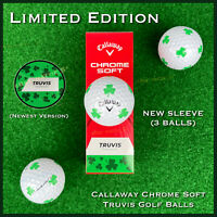 Callaway Chrome Soft TRUVIS Golf Balls SHAMROCK NEW 2021 Version (3 Ball Sleeve)