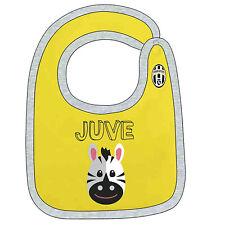 JUVENTUS bavaglino cotone giallo con automatico neonato-pappe-infanzia ufficiale