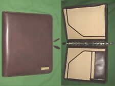 Folio 10 Brown Leather Day Timer Planner 85x11 Monarch Franklin Covey 320